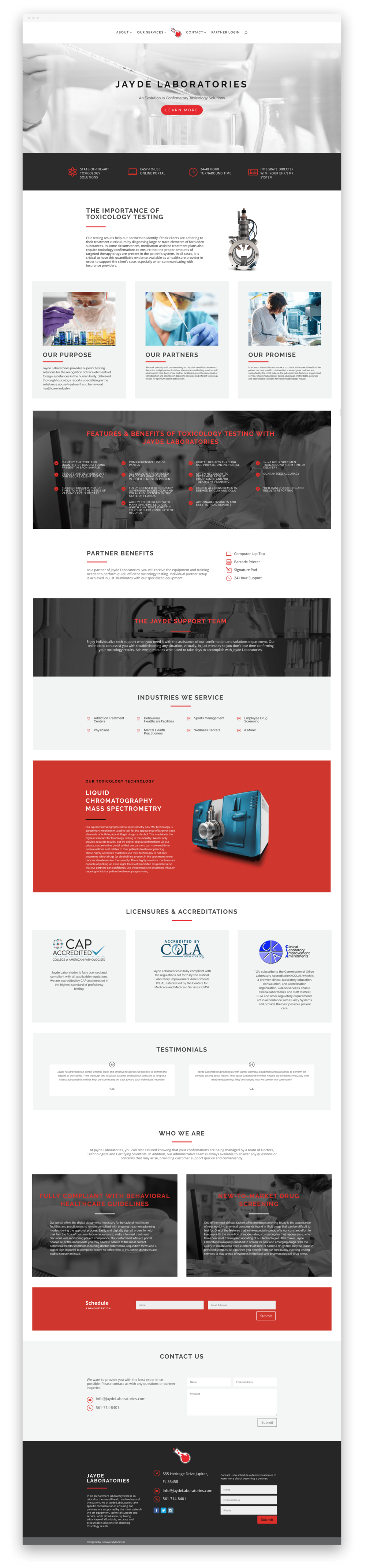 Laboratory Website Layout